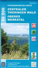 Wanderkarte Zentraler Thüringer Wald - Oberes Werratal - Blatt 58