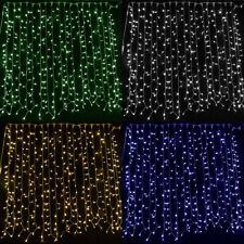 LED CURTAIN LIGHTS NET WEDDING BACKDROP LIGHTING XMAS STRING FAIRY LIGHT CHAIN