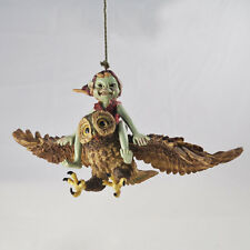 Pixie Riding Flying Owl Garden Ornaments Fairy Outdoor Decoration Girl Boy 39109