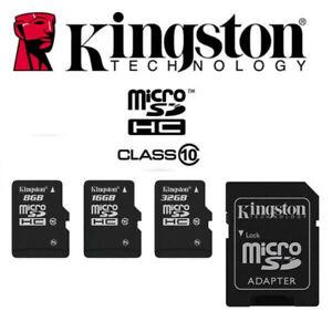Carte Memoire Micro SD Kingston - 8 / 16 / 32 / 64 / 128 Giga - 100 % Original