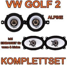 VW Golf 2 II  Alpine LAUTSPRECHER KOMPLETTSET VORNE+HINTEN BOXEN SET TÜR    NEU