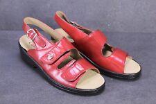 C1424 Comfort Damen Sandalen Leder rot Gr. 39 Wechselfußbett Klettverschluss