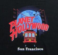 Vintage '91 Planet Hollywood San Francisco Trolley Logo Black Ss T Shirt Size Xl