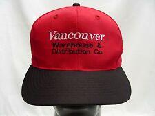 VANCOUVER WAREHOUSE & DISTRIBUTION - ADJUSTABLE SNAPBACK BALL CAP HAT!