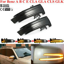2PCS Dynamic LED Side Mirror Turn Signal Light For Benz A B C E CLA GLA CLS GLK