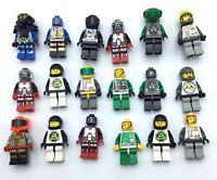 LEGO HUGE LOT OF 18 VINTAGE SPACE MINIFIGURES BLACKTRON ROBO FORCE UFO EXPLORIEN