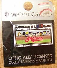 2014 Peanuts Happiness is MLB Game pin - Cleveland Indians Snoopy Charlie Brown