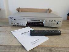 SONY HAUT DE GAMME LECTEUR MINIDISC MDS-JE780 TELECOMMANDE NOTICE FONCTIONNE !