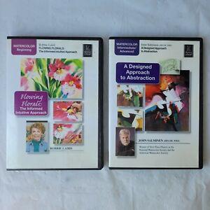 Watercolor Portrait Art Education DVD Lot of 2 Robbie Laird John Salminen