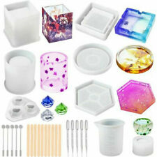 Silicone Resin Molds Epoxy Casting Making Art Coaster Cup Pen Candle Mould DIY