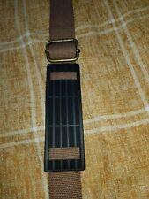 BROWN CANVAS Messenger Laptop Bag STRAP - ANTIQUE GOLD 360 SWIVEL lobster clasps