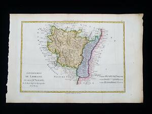 1787 BONNE: FRANCE, LORRAINE, ALSACE, LUXEMBOURG, SWITZERLAND, METZ...