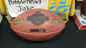 NFL 2009 NFC CHAMPIONSHIP PACKERS VS GIANTS WILSON DUKE FOOTBALL #319/5000