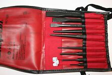 SNAP-ON TOOLS 9 PIECE Punches and Chisels SET + Gauge and Kit Bag USA