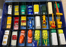 Vintage Matchbox Lesney Made In England + Carrying Case, Used, No Boxes-24 Cars.