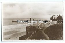 tq0147 - Yorks - The Spa, & Sandy Beach, at West Cliff, in Whitby -  Postcard