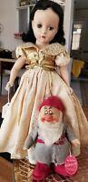 Madame Alexander Snow White 1952 with Chad Valley Sleepy Dwarf