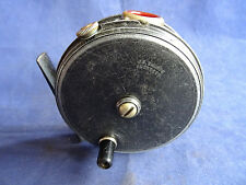 """A VINTAGE 3 3/8"""" SHARPES PATTERN 10b TROUT FLY REEL WITH RED AGATE LINE GUARD"""