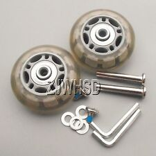 """Luggage Suitcase Replacement Wheels OD 60 (2.36"""") ID 6 W 22 Axles 40 Repair Set"""