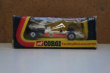 """Corgi No: 151 """"Yardley Mclaren M19A F/1 Racing Car"""" (Original 1973/Boxed) T10"""