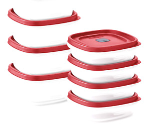 Rubbermaid Easy Find Vented Lids Food Storage, Set of 8 (16 Pieces Total) Pla...