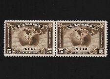 1930 Canada Air Mail Pair Sc#C2 Mint Light Hinge