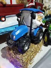Santa on Ford / New Holland type tractor. Christmas Ornament