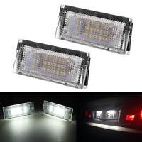 2PC White 18 LED License Plate Number Lamp Lights For BMW E46 4D 1998-2003
