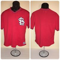 27e9fa20b Vintage St Louis Cardinals Sand Knit Pullover Jersey size Medium Red Mesh  80s