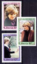 Liberia 1982 MNH 3v, Princess Diana, Royal Family