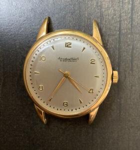 Vintage IWC Schaffhausen 18K Yellow Gold 35mm Manual Watch 1960s