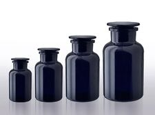 MIRON Glass, Ultraviolet UV Protective Glass, Black Apothecary Jars, 250ml