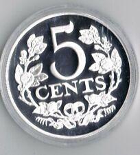 1 ounce ZILVEREN 5 CENT 1909 REPLICA  .925 zilver PROOF capsule + certificaat