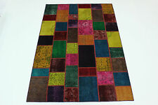 moderne Patchwork Délavé Used Look PERSAN TAPIS tapis d'Orient 3,00 x 2,01