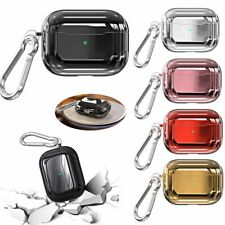 For Apple AirPods Pro Charging Case Soft TPU Protective Cover Skin + Keychain