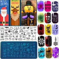 Sell Xmas Halloween Manicure Template Art Nail Printing Image Polish Stamp Plate