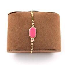 Oval Ks Style Fast Ship Usa Coral Pink Bracelet or Anklet Acrylic