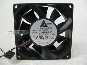 Delta AFC0912DE Cooling Fan 92x92x38mm DC 12V 2.5A P/N:GW569-A00 4-wire 5-pin