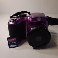 GE Power Pro Series X2600 16.1MP Digital Camera Optic Zoom PURPLE 4GB Mem Card