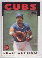 1986 Topps Baseball Chicago Cubs Team Set