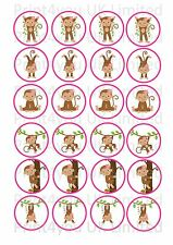 24 icing cake toppers decorations cute girl monkey cartoon ND1