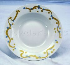 Retroneu Stoneware Winter Nights 4295 Soup Bowl With Gold and Silver Star Design