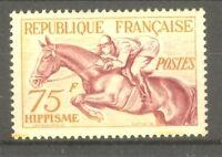 "FRANCE STAMP TIMBRE N° 965 "" JO HELSINKI 1952 HIPPISME 75F "" NEUF xx SUP"
