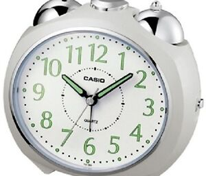 Casio Alarm Clock wake-up TQ-369 white Silent Sweep No Ticking Snooz Free Ship