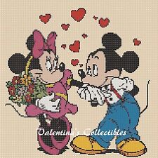 Counted Cross Stitch MICKEY & MINNIE'S IN LOVE - COMPLETE KIT  #10-20
