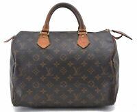 Authentic Louis Vuitton Monogram Speedy 30 Hand Bag M41526 LV B6139