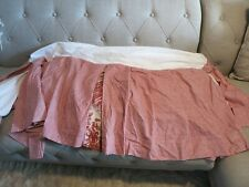 Custom Waverly Country life Kingsway Cottage Cove Red Gingham Bed skirt for Crib