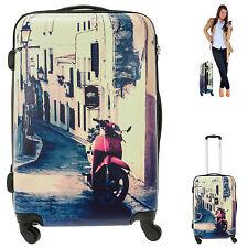 Trolley FABRIZIO 60 cm Hartschale Koffer 4 Rollen 4-Rad Trolly 10249 ITALY +g b