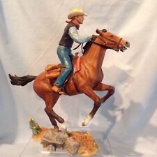 "Country Artists Cowboy on Horse Figurine 9.75"" CA04309 2006 w /shelf tag $89.99"