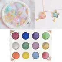 Pearl Powder Solutions -Mica Pigment Powders-12X Colours Set Resin/Nail Art W6J8
